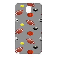Balltiled Grey Ball Tennis Football Basketball Billiards Samsung Galaxy Note 3 N9005 Hardshell Back Case by Mariart