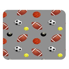Balltiled Grey Ball Tennis Football Basketball Billiards Double Sided Flano Blanket (large)  by Mariart