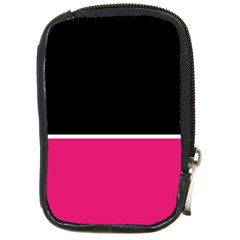 Black Pink Line White Compact Camera Cases by Mariart