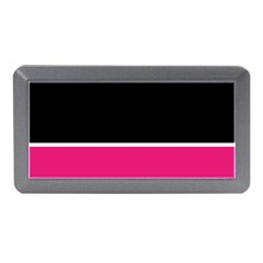 Black Pink Line White Memory Card Reader (mini) by Mariart