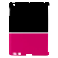 Black Pink Line White Apple Ipad 3/4 Hardshell Case (compatible With Smart Cover) by Mariart