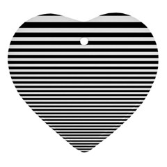 Black White Line Ornament (heart) by Mariart