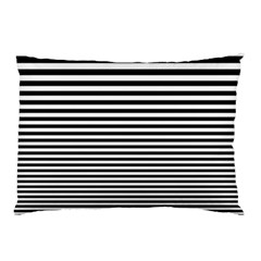 Black White Line Pillow Case (two Sides) by Mariart