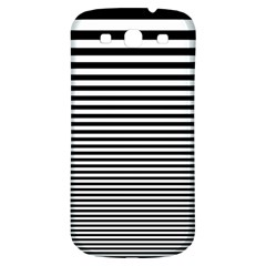 Black White Line Samsung Galaxy S3 S Iii Classic Hardshell Back Case by Mariart