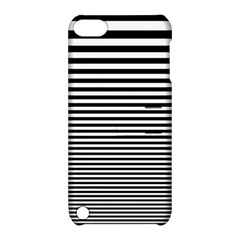 Black White Line Apple Ipod Touch 5 Hardshell Case With Stand by Mariart