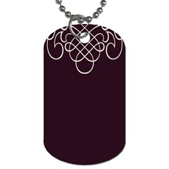 Black Cherry Scrolls Purple Dog Tag (two Sides) by Mariart
