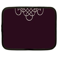 Black Cherry Scrolls Purple Netbook Case (large) by Mariart