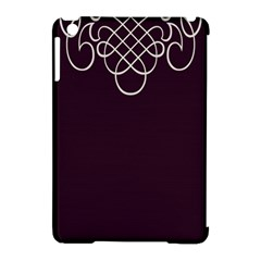 Black Cherry Scrolls Purple Apple Ipad Mini Hardshell Case (compatible With Smart Cover) by Mariart