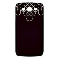 Black Cherry Scrolls Purple Samsung Galaxy Mega 5 8 I9152 Hardshell Case  by Mariart
