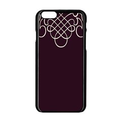 Black Cherry Scrolls Purple Apple Iphone 6/6s Black Enamel Case by Mariart