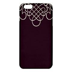 Black Cherry Scrolls Purple Iphone 6 Plus/6s Plus Tpu Case by Mariart