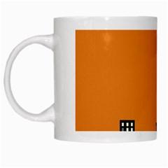 City Building Orange White Mugs by Mariart