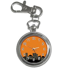 City Building Orange Key Chain Watches by Mariart