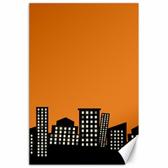 City Building Orange Canvas 20  X 30   by Mariart