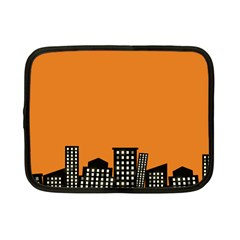 City Building Orange Netbook Case (small)  by Mariart
