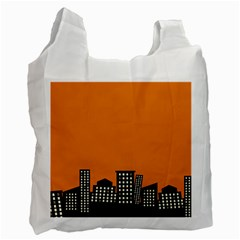 City Building Orange Recycle Bag (two Side)  by Mariart