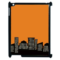 City Building Orange Apple Ipad 2 Case (black) by Mariart