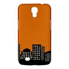 City Building Orange Samsung Galaxy Mega 6 3  I9200 Hardshell Case by Mariart