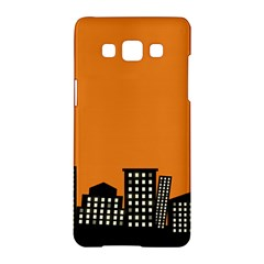 City Building Orange Samsung Galaxy A5 Hardshell Case  by Mariart