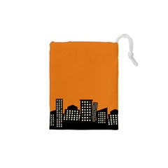 City Building Orange Drawstring Pouches (xs)  by Mariart