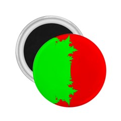 Critical Points Line Circle Red Green 2 25  Magnets by Mariart