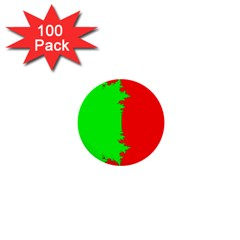 Critical Points Line Circle Red Green 1  Mini Buttons (100 Pack)  by Mariart