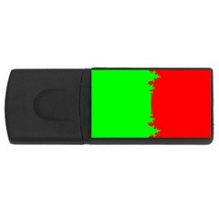 Critical Points Line Circle Red Green Usb Flash Drive Rectangular (4 Gb) by Mariart