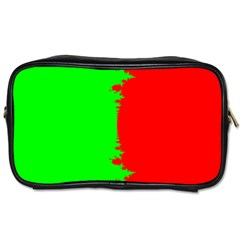 Critical Points Line Circle Red Green Toiletries Bags 2 Side by Mariart