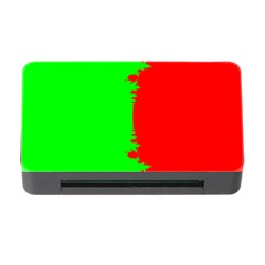 Critical Points Line Circle Red Green Memory Card Reader With Cf by Mariart