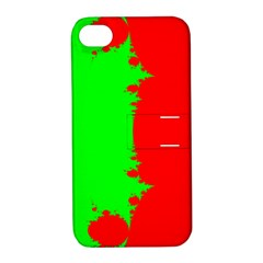 Critical Points Line Circle Red Green Apple Iphone 4/4s Hardshell Case With Stand by Mariart
