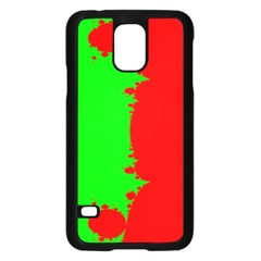 Critical Points Line Circle Red Green Samsung Galaxy S5 Case (black) by Mariart