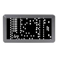 Circle Plaid Black White Memory Card Reader (mini) by Mariart