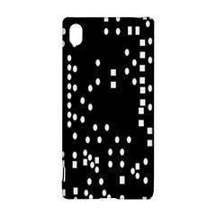 Circle Plaid Black White Sony Xperia Z3+ by Mariart