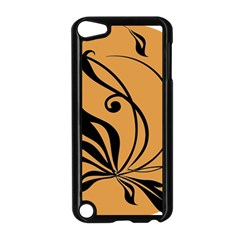 Black Brown Floral Symbol Apple Ipod Touch 5 Case (black) by Mariart