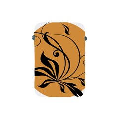 Black Brown Floral Symbol Apple Ipad Mini Protective Soft Cases by Mariart