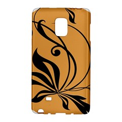 Black Brown Floral Symbol Galaxy Note Edge by Mariart