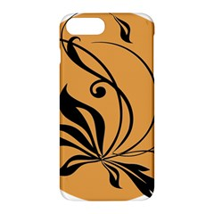 Black Brown Floral Symbol Apple Iphone 7 Plus Hardshell Case by Mariart