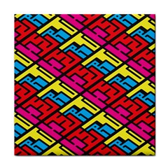 Color Red Yellow Blue Graffiti Tile Coasters by Mariart
