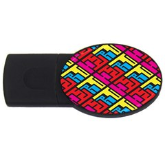 Color Red Yellow Blue Graffiti Usb Flash Drive Oval (2 Gb) by Mariart
