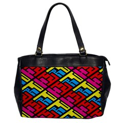 Color Red Yellow Blue Graffiti Office Handbags by Mariart