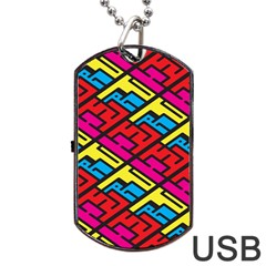 Color Red Yellow Blue Graffiti Dog Tag Usb Flash (one Side) by Mariart