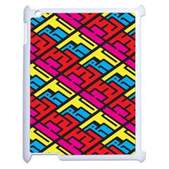 Color Red Yellow Blue Graffiti Apple Ipad 2 Case (white) by Mariart