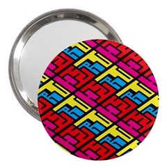 Color Red Yellow Blue Graffiti 3  Handbag Mirrors by Mariart