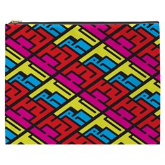 Color Red Yellow Blue Graffiti Cosmetic Bag (xxxl)  by Mariart