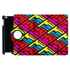 Color Red Yellow Blue Graffiti Apple Ipad 3/4 Flip 360 Case by Mariart