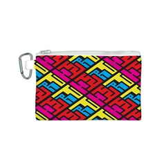 Color Red Yellow Blue Graffiti Canvas Cosmetic Bag (s) by Mariart