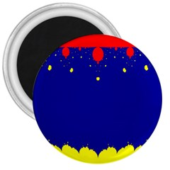 Critical Points Line Circle Red Blue Yellow 3  Magnets by Mariart
