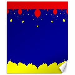 Critical Points Line Circle Red Blue Yellow Canvas 20  X 24   by Mariart