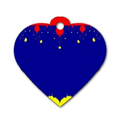 Critical Points Line Circle Red Blue Yellow Dog Tag Heart (one Side) by Mariart