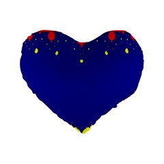 Critical Points Line Circle Red Blue Yellow Standard 16  Premium Flano Heart Shape Cushions by Mariart